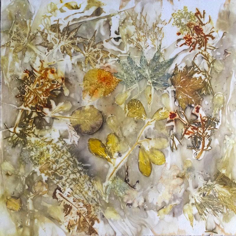 Autumn Leftovers by Jacqueline Harrington, Ecoprint, 16 x 16