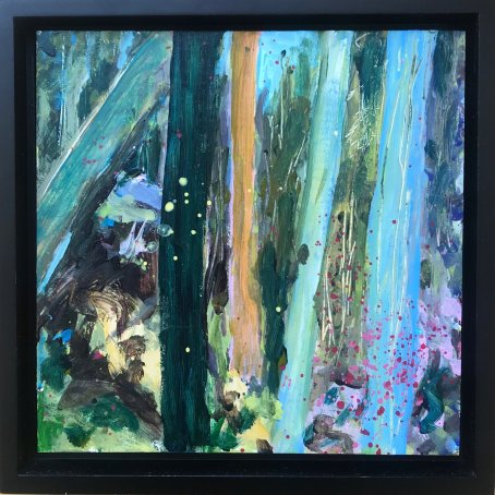 """""""Spring Forest 4"""", Acrylic on gesso board"""