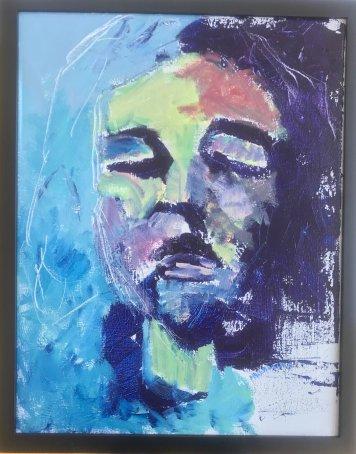 """""""Mr. Blue"""", Acrylic on canvas"""