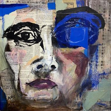 "Robin Colodzin, ""Seeing Blue"", 12x12"